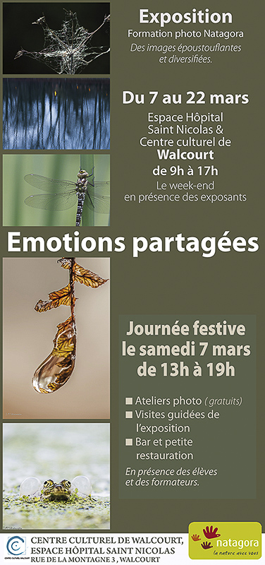 Exposition formation photo Natagora à Walcourt 2015